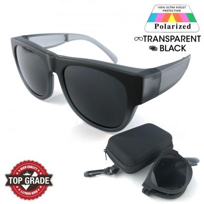 New Top Grade UV Protection Folding Fitover Glasses Polarized Sunglasses Men Women (LM5800)