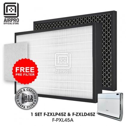 AIRPRO Panasonic F-ZXLP45Z F-ZXLD45Z  Air Purifier HEPA H13 & Deodorizing Filter for F-PXL45A