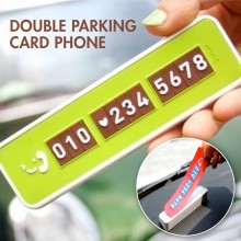 Korean Cute Double Parking Card Phone Number Display Temporary Parking