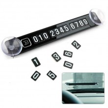 2 Units Double Parking Card Phone Number Display Temporary Parking