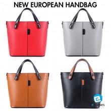 New European Simple Color Women Handbag