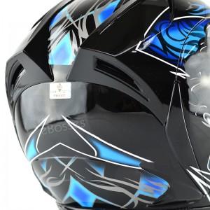 Space Crown Helmet Phoenix 5 STK with Adjustable Functional Air Vents Shield (STK01)